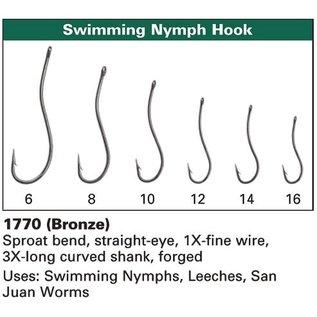 Daiichi Daiichi 1770 Swimming Nymph Hooks, 25-pack