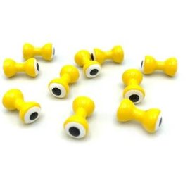 Hareline Dubbin Hareline Double Pupil Lead Eyes - Yellow