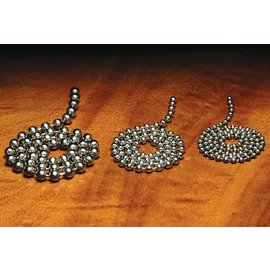 Hareline Dubbin Hareline Bead Chain Eyes - Silver