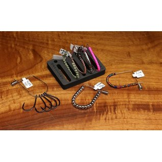 Hareline Dubbin Feed-A-Bead 5 pack with holder and labels