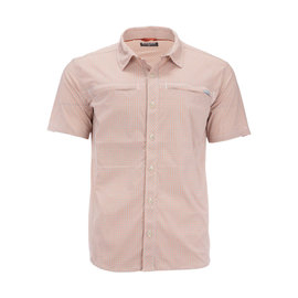 Simms Fishing Simms M's Stone Cold Short Sleeve Shirt - Smoked Salmon Morada Plaid
