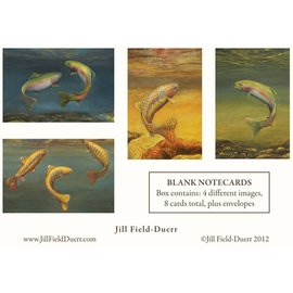 Jill Field-Deurr Trout Print Note Cards