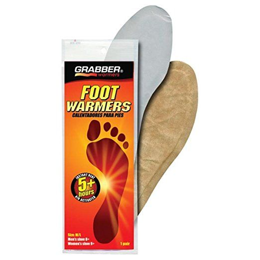 Grabber Foot Warmer Insoles: MD/LG, Pair