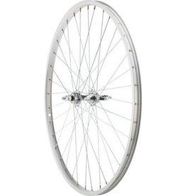 Sta-Tru Sta Tru Rear Wheel 26 1 3/8 inch Silver 6/7 Speed Bolt-on Hub, Alloy Rim, Solid Axle 36 Spoke Include Axle Nuts