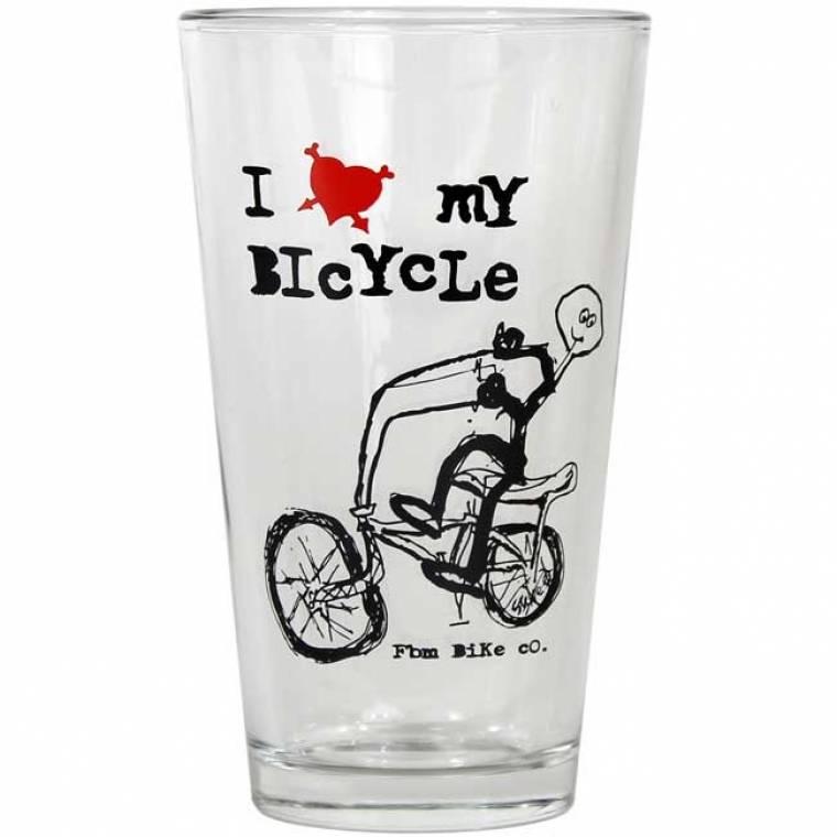 FBM I Love My Bicycle Pint Glass