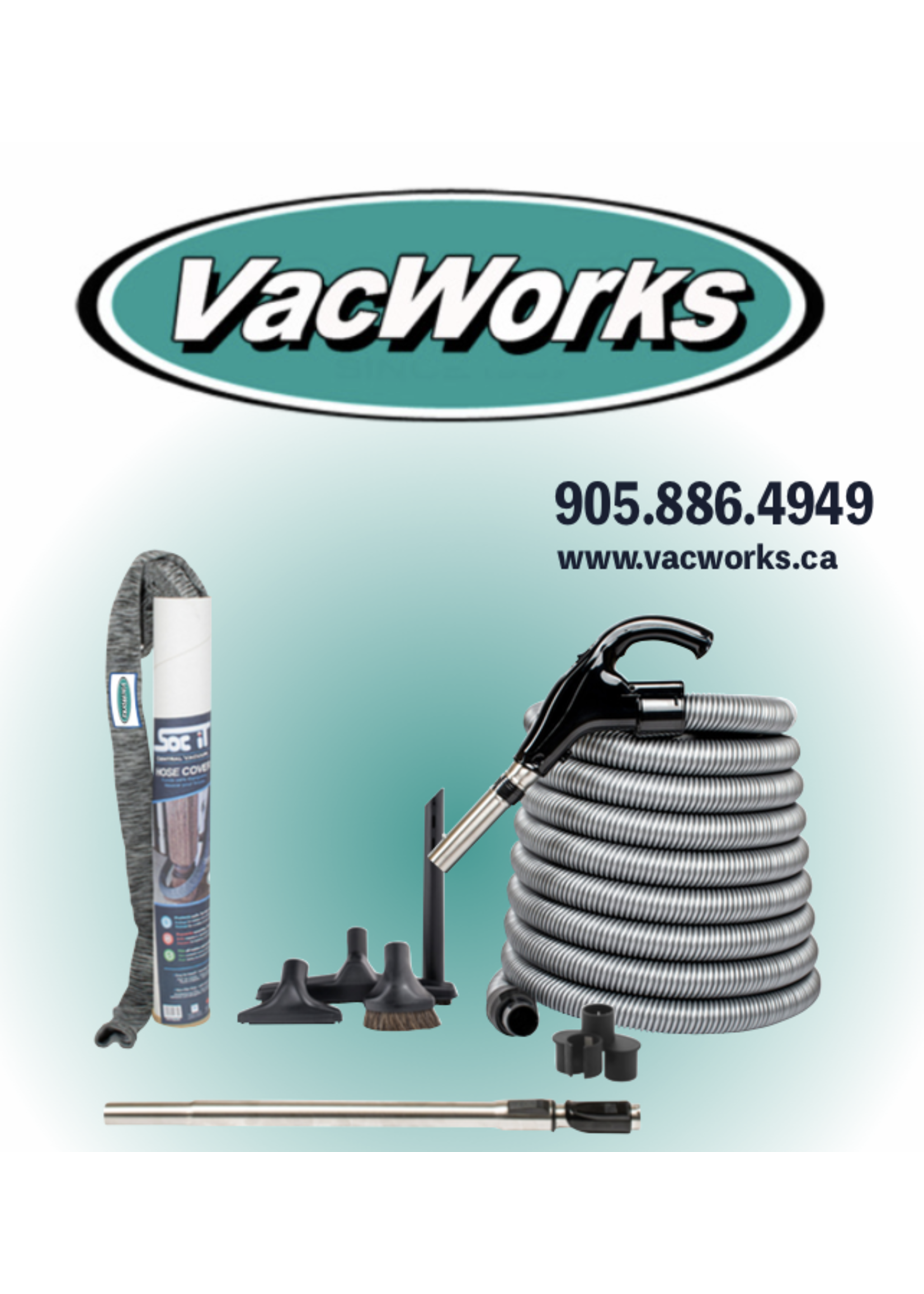 Lightweight Low Voltage Hose Kit with Cover - Vacworks