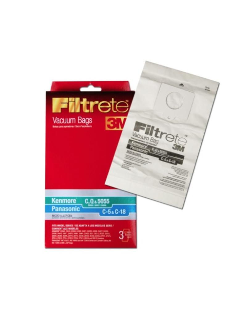 Filtrete 3M Kenmore C, Q & 5055 Panasonic C-5 & C-18 (3 Pack) 3M