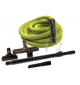 Garage Hose Kit Central Vac 50' (Lime)