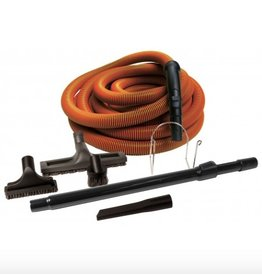 JOHNNY VAC Garage Hose Kit Central Vac 50' (Orange)