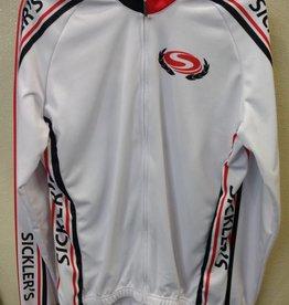 V-Gear Sickler's White Men's Jersey Sport Cut LS Large