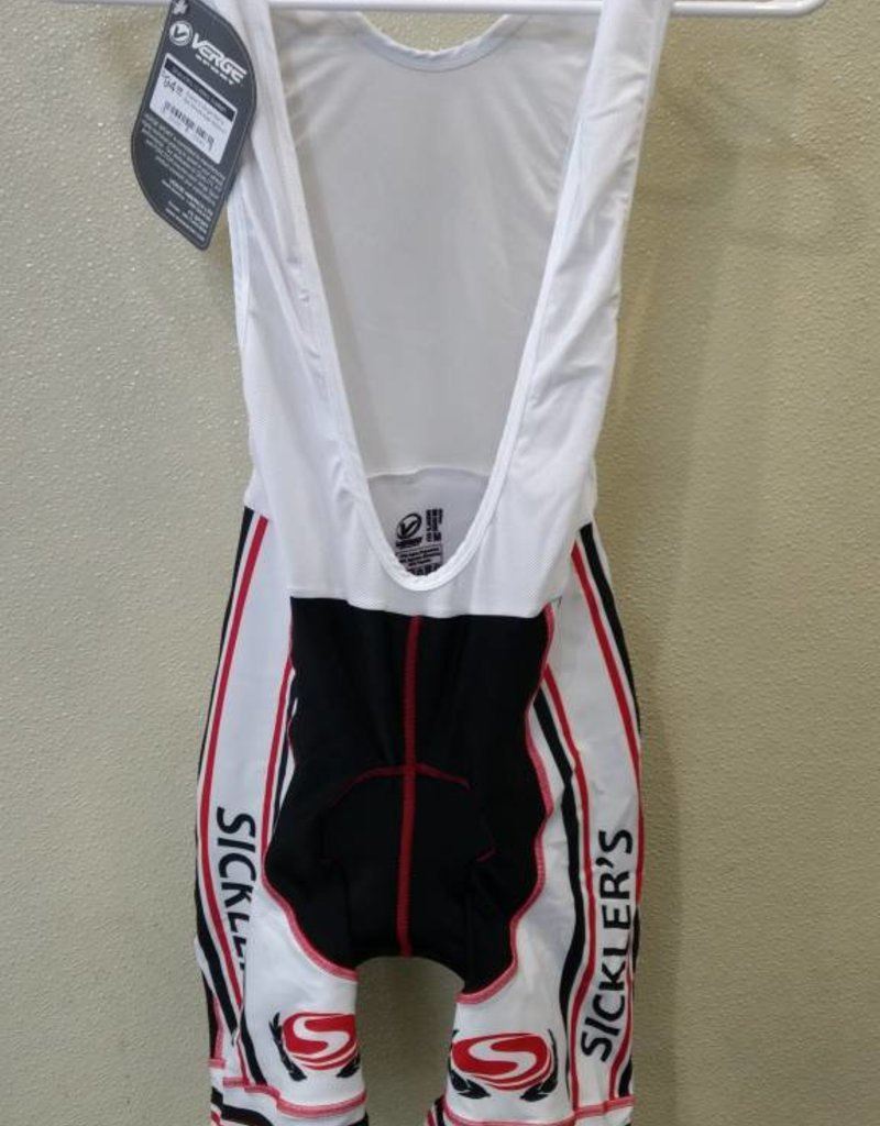 V-Gear Sickler's White Men's Bib Short size Small