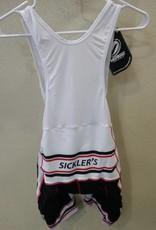 V-Gear Sickler's White Men's Bib Short size Large