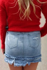 FRONT KNOT CROP SWEATER