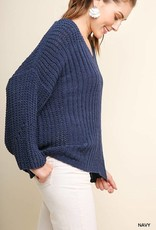 CHENILLE KNIT PULLOVER SWEATER