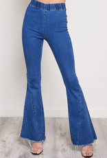 BOOTCUT PANTS WITH ELASTIC WAIST