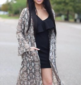 SNAKE CARDIGAN WITH POCKETS