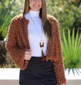 CHENILLE YARN JACKET