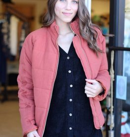 SOFT STRIPE QUILT JACKET