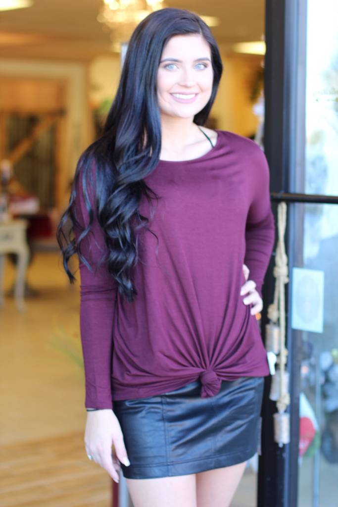 OFF SHOULDER KNOT TUNIC