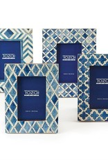 TOZAI Blue and White Moderne Frame 4x6 B