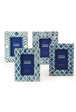 TOZAI Blue and White Moderne Frame 4x6 B
