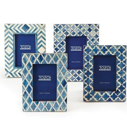 TOZAI Blue and White Modern Frame 4x6 C