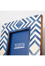 TOZAI Blue and White Modern Frame 4x6 C