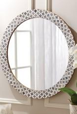 TOZAI Slate Quatrefoil Wall Mirror