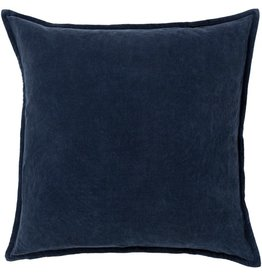 Surya Cotton Velvet Pillow 22 X 22 Navy Blue