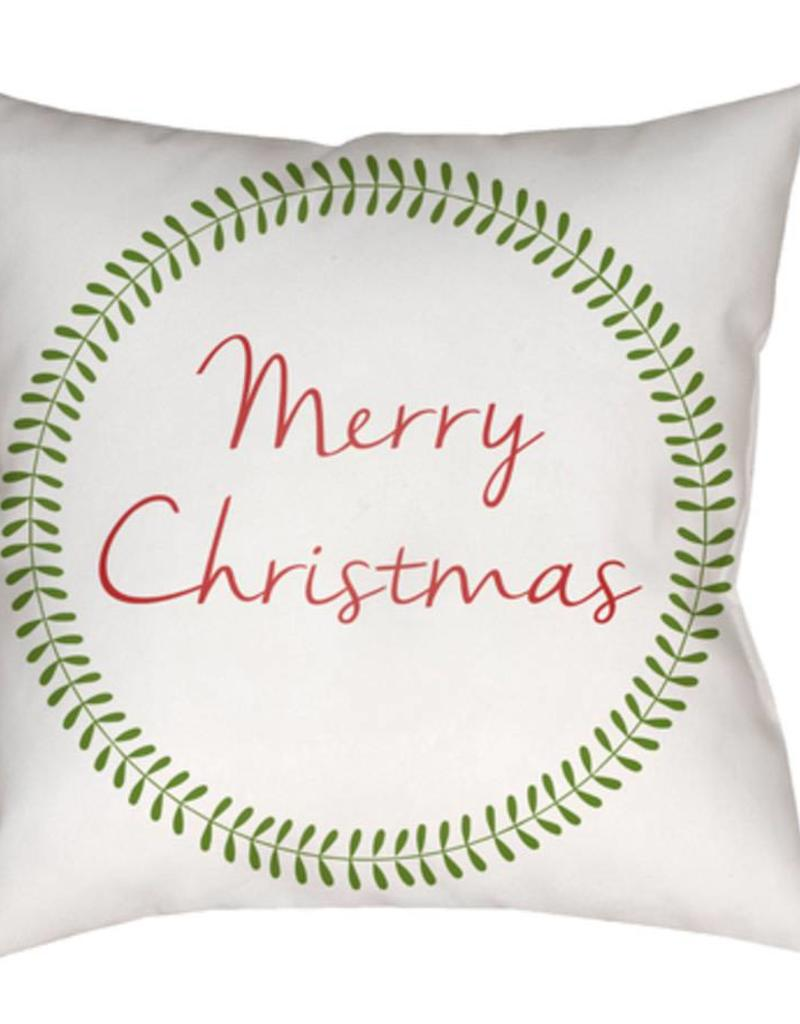 Surya Merry Christmas 20x20 Pillow