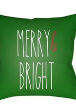 Surya Merry and Bright Green Pillow 20x20