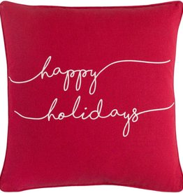 Surya Happy Holiday Red Pillow