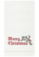 C&F Enterprises Wenham Holly Christmas Towel