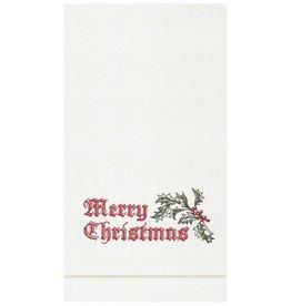 C&F Enterprises Wenham Holly Christmas Towel