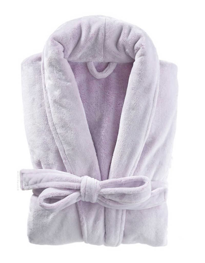Pine Cone Hill Frosted Fleece Violet Shortie Robe