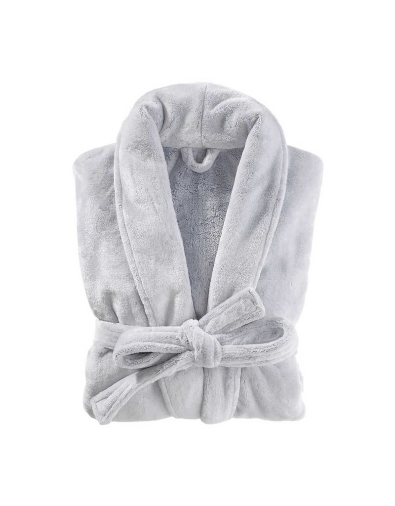Pine Cone Hill Frosted Fleece Silver Shortie Robe