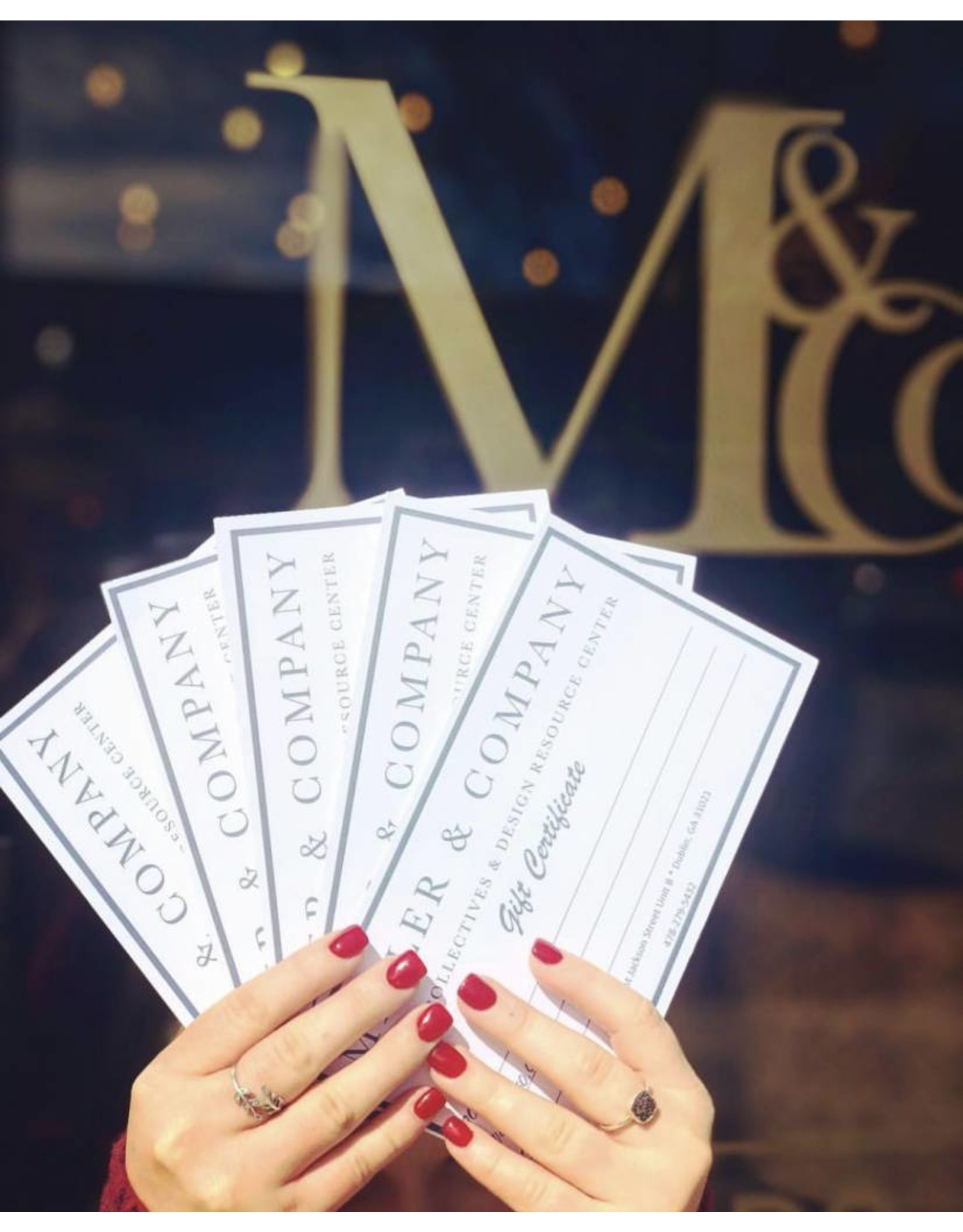 Gift Certificates $25