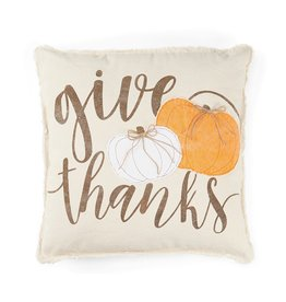 MudPie Pumpkin Pillow- Give Thanks