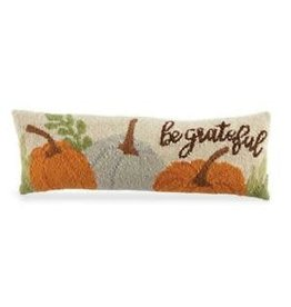 MudPie Be Greatful Hooked Wool Pillow