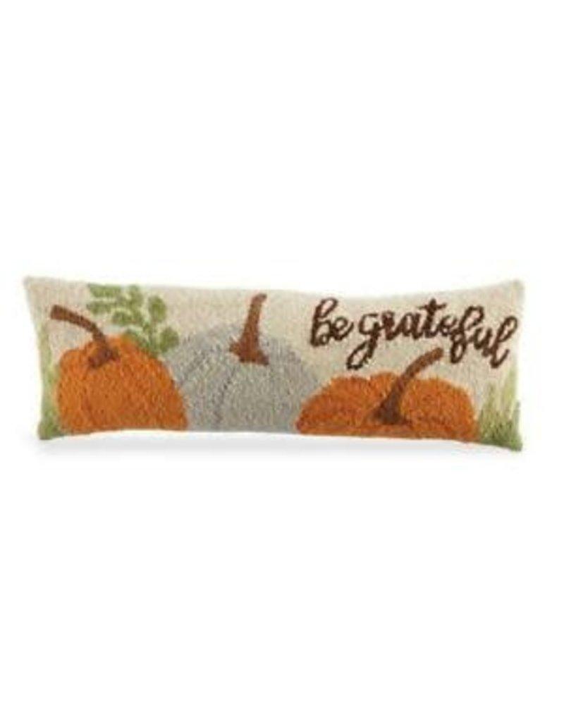 MudPie Be Greatful Hooked Wool Pillow