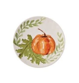 MudPie Small Orange Pumkin Plate