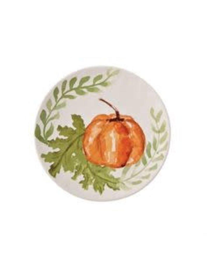 MudPie Small Orange Pumkin Plate