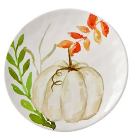 MudPie Small White Pumpkin Plate