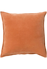 Surya Velvet Pillow 18x18 - Orange