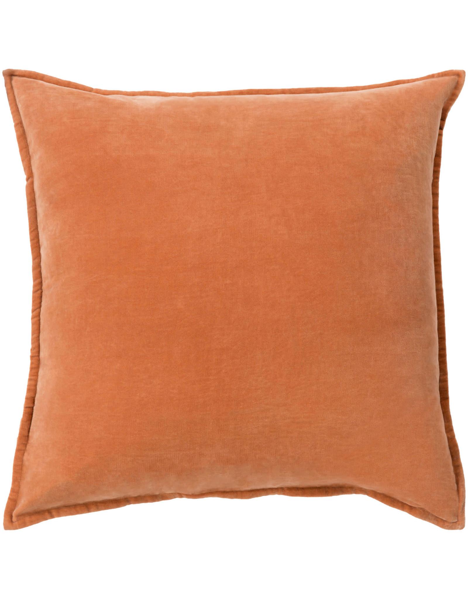 Surya Velvet Pillow 18x18 - Orange