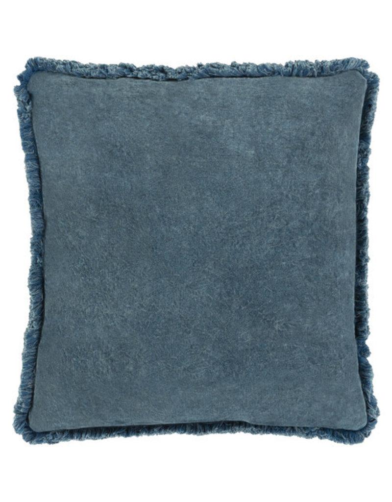 Surya Velvet Pillow 18x18 - Blue
