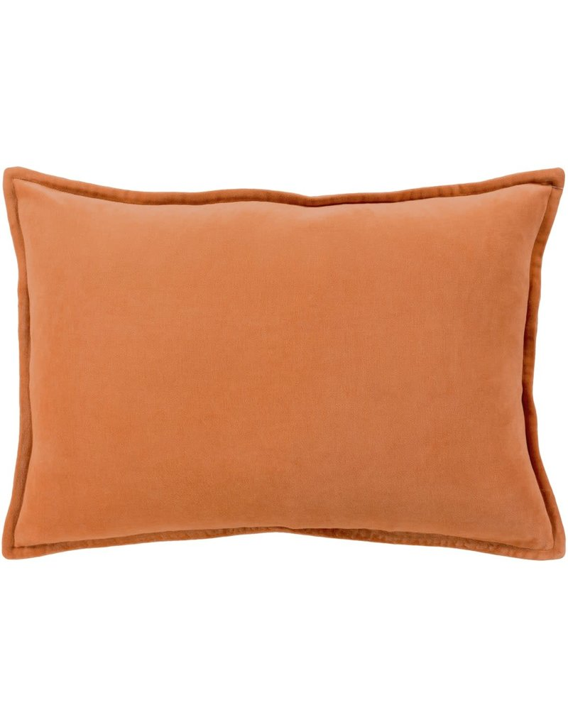 Surya Velvet Pillow 13x19 - orange