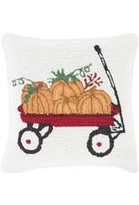 Surya Pillow Pumpkin In Wagon - 18 x 18