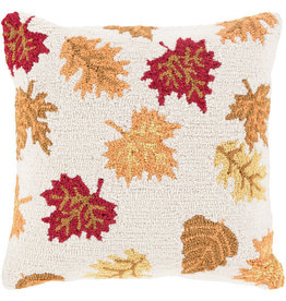 Surya Pillow with Autumn Leaves -18 x 18