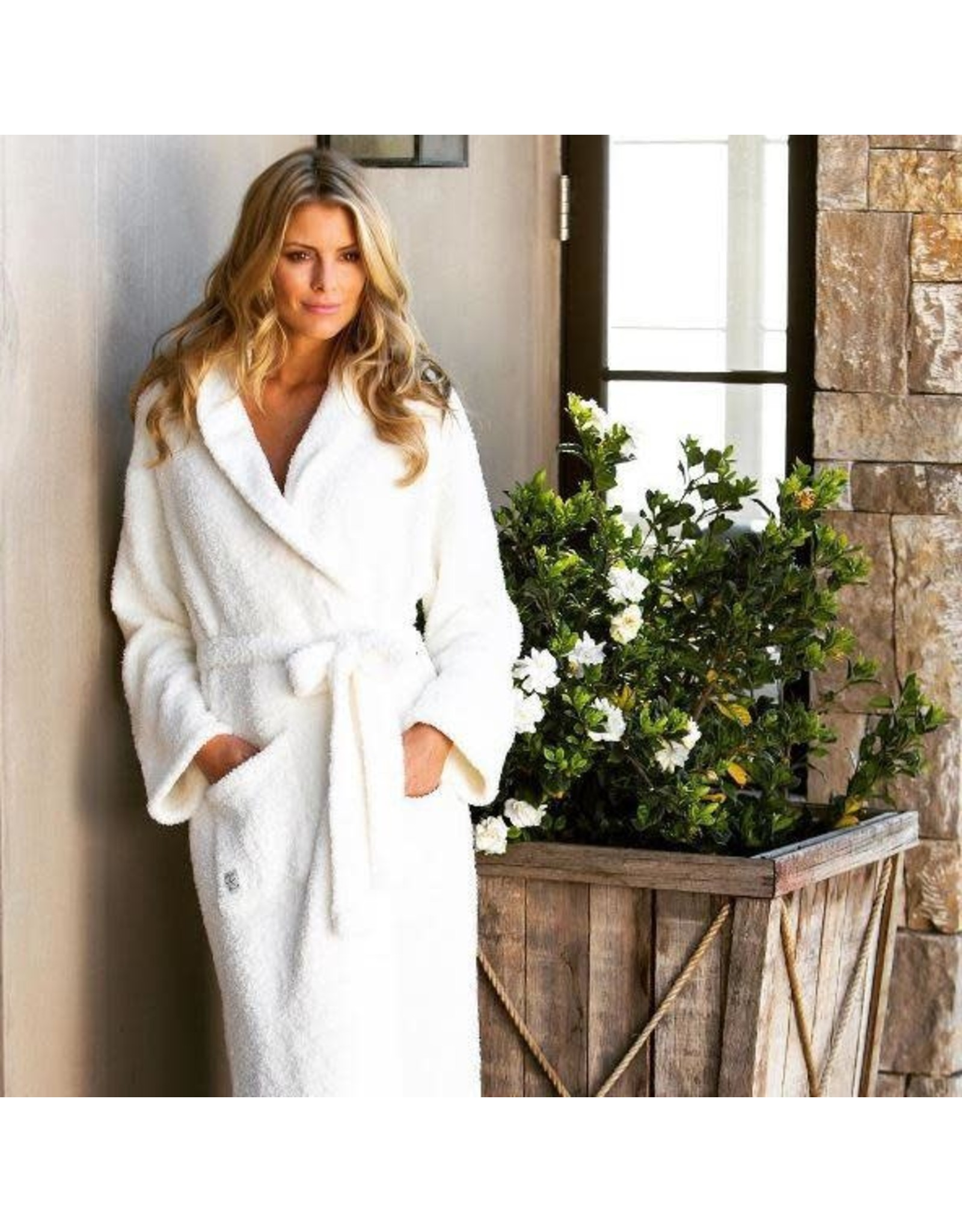 Barefoot Dreams Cozychic Robe - Pearl Small